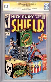Nick Fury Agent Of Shield #1 CGC 8.5 Signature Series Signed Jim Steranko Marvel comic book